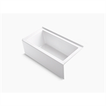 """underscore® 60"""" x 32"""" alcove bath with integral apron, integral flange, and right-hand drain"""