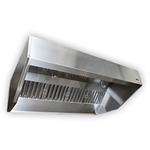Sloped Wall Canopy Exhaust Hood with Perforated Supply Plenum, SND-2 Series