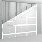 sw50/100; ei90; 35db; austria; shaft wall with single metal stud frame, double-layer cladding