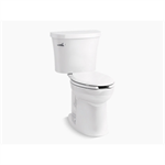 kingston™ comfort height® two-piece elongated 1.28 gpf chair height toilet with tank cover locks and antimicrobial finish