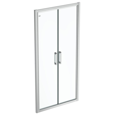 connect 2 saloon door 100 clear glass