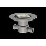 kessel-bathroom drain superflat 42701.50 ø50 lateral, variofix, design cover oval