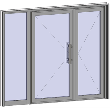 Grand Trafic Doors - Anti Finger Pinch version - Double outward opening with left fixed