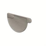 gutter stopend half-round left (size 333, prepatina graphite-grey)