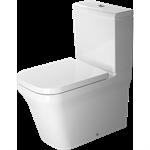 p3 comforts toilet close-coupled duravit rimless® 216709