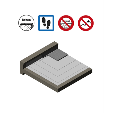 Systems for accessible roof parking with reinforced concrete protection