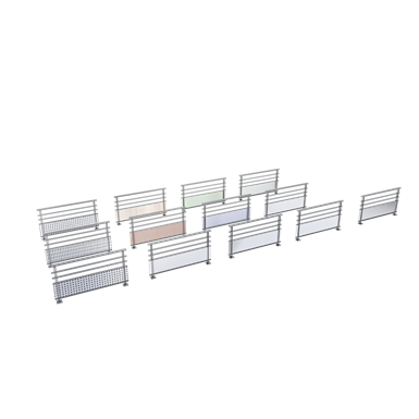 Balustrades rails with base infill