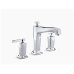 margaux® deck-mount bath faucet trim for high-flow valve with diverter spout and lever handles, valve not included