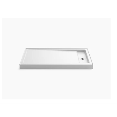 """Bellwether® 60"""" x 34"""" single-threshold shower base with right offset drain"""