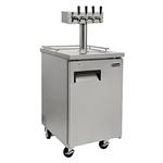Kegco XCK-1S-4 Commercial Four Faucet Kegerator