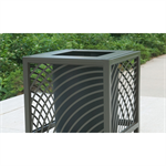 JordanCreek Laser Cut/Steel Tubing Trash Receptacles