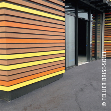 lame d'habillage de façade fixation invisible - gamme harmonie façade