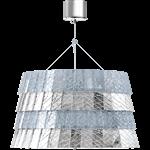tuile de cristal ceiling large size frozen silver