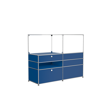 Room divider double side with social distanciation glass panels, customisable