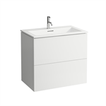 KARTELL BY LAUFEN Combination of washbasin with vanity unit 800 mm
