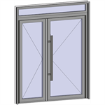 grand trafic doors - anti finger pinch version - double inward opening with transom