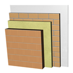 ME02-B1-b Double skin clay block party wall, with thermal insulation. BC14+AT+LH7+ENL