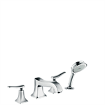 Metris Classic 4-hole rim mounted bath mixer 31314000