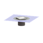 kessel-variofix shallow bed upper sect. design cover oval, without lock & lift