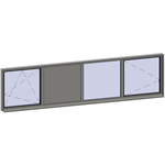 horizontal strip windows - 4 zones