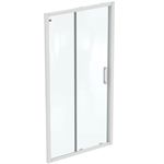 connect 2 slider door 105 without handle  white frame and clear glass