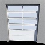 industrial glazed panel door 02 normal and high lift