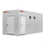 zecon - sanitärcontainer 6,0m x 2,5m mit flurteil (20 personen)