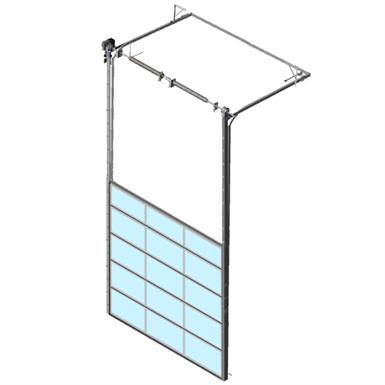 Sectional overhead door 601 - high lift - Full vision panels