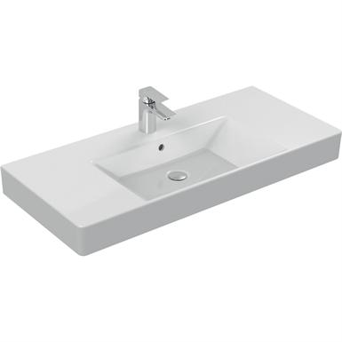 strada vanity basin 1010x455mm, 1 taphole, with overflow