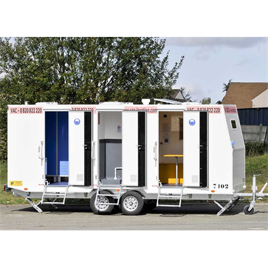 8-person construction trailer with shower