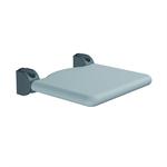Nylon Care Lift-up shower seat, padded seat warm grey 410x410
