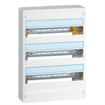 drivia insulating enclosures for the realization of residential electrical panels from 1 to 4 rows of 18 modules