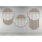 gommette – acoustic screen in varian - wall mounted