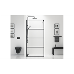Shower Wall Black 90 cm