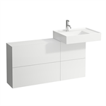 KARTELL BY LAUFEN Vanity unit 1200 mm, washbasin right