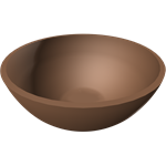 square planter half-bowl