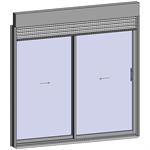 sliding window 2 rails 2 leaves with external venetian blinds