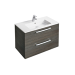tempo wall hung 800mm vanity unit with 2 drawers