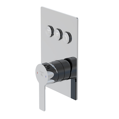 """pushtronic concealed single lever ¾"""" with 3-way diverter 390 2231"""