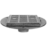 """Z537 16"""" Square Top Heavy-Duty Parking Deck Drain with Support Flange"""