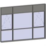 multi-paned windows - 9 compound zones