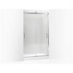 """levity® sliding shower door, 82"""" h x 44-5/8 - 47-5/8"""" w, with 3/8"""" thick crystal clear glass"""