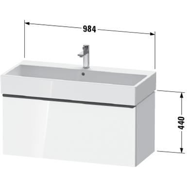 de4274 d-neo vanity unit wall-mounted