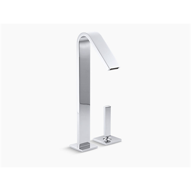 loure® tall single-handle bathroom sink faucet with lever handle