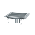 kessel-square channel drain 6100100 stainless steel, b:1000, l: 1000, h: 65
