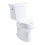 "k-3948-ut wellworth® elongated 1.28 gpf toilet, 14"" rough-in, insuliner®, tank locks"
