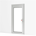 emergency exit door w/ escape control alarm