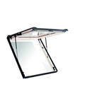 Roto top-hung emergency escape roof window Designo R8 timber