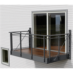 Balcony with Glitra glass railing