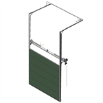 sectional overhead door 601 - pre-assembled high lift - 80mm panels